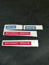 Dinky 442 Land Rover Motorway Rescue reproduction paper sticker set