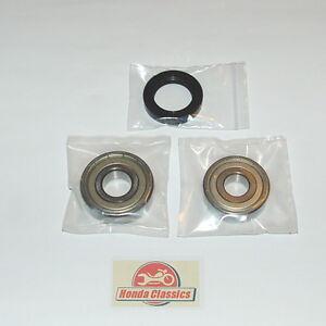 Honda CB350F CB400F 400/4 SOHC Four Rear Wheel Bearings Oil Seal Set Kit. KIT003