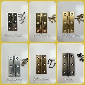 Fingertip Design Cabinet Butt Hinge - FTD800D range - 64x35x2mm (1 pair)