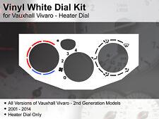 Vauxhall Vivaro 2nd Generation (2001 - 2014) Heater Dial - Vinyl White Dial Kit