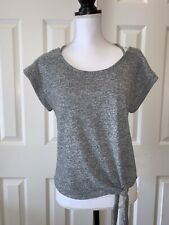 Almost Famous Juniors Size Xl Grey Blouse Short Sleeve
