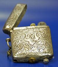 antikes Benzinfeuerzeug in Streichholzdose ca.1912 - Sterling Silber
