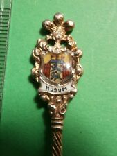 Andenkenlöffel Sammlerlöffel  Husum Silber vintage silver spoon