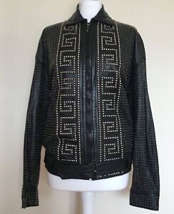Gianni Versace Vintage Lambskin Leather Unisex Jacket Mens Womens