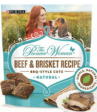 (2) Pioneer Woman Dog Treats - Natural Grain-Free Beef & Brisket Recipe BBQ 16oz