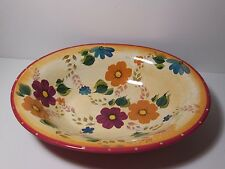 Oneida Kitchen Dinnerware Sunset Bouquet Large Serving Bowl