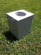 "Gray Granite Cemetery Vase Tapered (8""x6""x10"")"