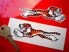 TRIUMPH Leaping Tiger 100mm Pair Car Bike STICKERS Sunbeam Rootes Classic 650