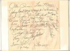 1970 Reds Team Signed Autograph Sheet, Rose, Bench, Perez, Concepcion RC, HOF