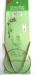 ChiaoGoo 16 Inch Moso Bamboo Circular Knitting Needles - Dark Patina MPN 2016