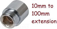 NEW Radiator pipe extension 10mm 15mm 20mm 25mm 30 40mm 50 60 80 100mm adapters