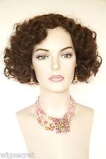 Dark Auburn Red Medium Skin Top Wavy Curly Costume Wigs
