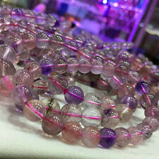 Natural Super Seven 7 Crystal Melody Stone Round Beads Bracelet 7mm AAA