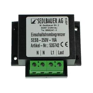 Inrush current limiter 230V 16A for Transformers Power supplies LED Sedlbauer SE