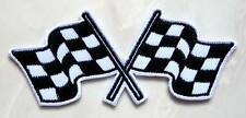 Racing Checkered Chess Finished Flag Embroidered Iron on Patch Free Shipping
