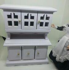 1:12 Dollhouse Miniature White Kitchen Cabinet