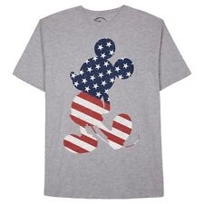 Disney Men's Mickey Mouse American Flag Silhouette Athletic Fit T-Shirt Size 2XL