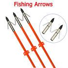 "3X Bowfishing Arrows 32"" Archery Fish Hunting Fiberglass Shaft  For All Bows"