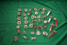 Antique German Tin Christmas Tree Clamp-On .Candle Holders Lot Of 39