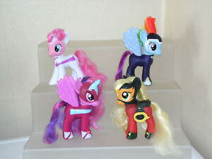 "My Little Pony G4 Superhero Power Ponies Bundle 6"" Tall Applejack Rainbow Dash"