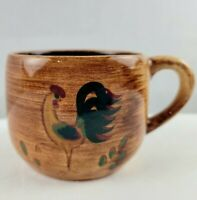 Replacement Pennsbury Pottery Rooster Coffee Mug Tea Coffee Cup Vintage Folk Art