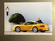 2000 Porsche Turbo Coupe Full Color Werkfoto Press Photo Factory Issued RARE LR