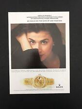 Vintage Print Ad ROLEX WATCHES Timepiece Clock Wristwatch Cecilia Bartoli Opera