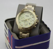 NEW AUTHENTIC FOSSIL CREWMASTER SPORT CHRONOGRAPH GOLD MEN'S CH3061 WATCH