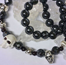 Natürliche Echtschmuck-Halsketten & -Anhänger mit Bewusstseins-Granate