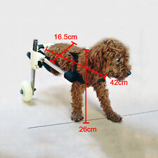 "Cart Height 10""  Pet Dog Wheelchair Walk For Handicapped Doggie Stainless Steel"