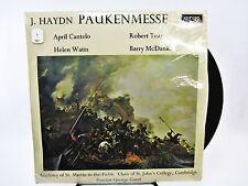 J Hayden Paukenmesse St Martin in the Fields St John's College George Guest  LP