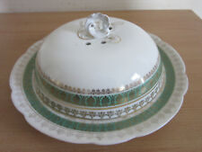 Antique Porcelain cheese butter server Imperial Crown China Vienna Austria