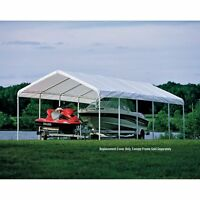 ShelterLogic 12 x 30 ft. Canopy Replacement Cover for 2 in. Frame, White