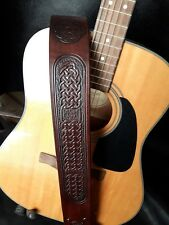 Celtic Knot Hand Crafted Leather Guitar Strap