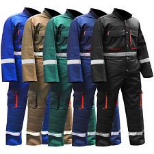 Mens Overalls Boiler Suit Coveralls Work Wear Mechanics Working Protective Suit
