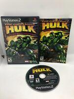Incredible Hulk Ultimate Destruction - PS2 - Complete Sony PlayStation 2 MARVEL