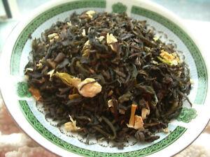 Tea Loose Jasmine Flower Leaf Sencha & Formosa Oolong Green Tea Blend