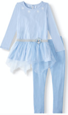 NWT Frozen Elsa Girls Outfit Costume Pants Top Cosplay Size 6 or 10 Blue