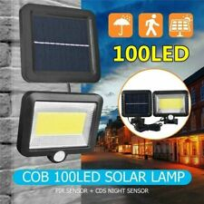 30W 100LED COB Solar Powered Flood Light Spotlight Street Lamp Outdoor Garden