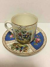 Tasse porcelaine scènes galantes Dresde XIX° Dresdner Porzellan Tasse galanten