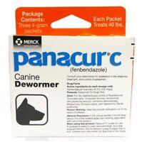 Panacur C Canine Dewormer, Net Wt. 12 Grams, Package of 3, 4 Gram Pack