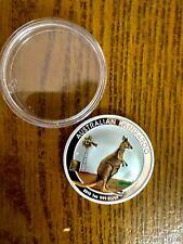 1 oz 2012 Coin Australian Kangaroo Colorized Silver Coin