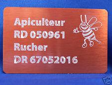 Plaquette aluminium couleur cuivre gravure alu personnalisée env 8x5cm