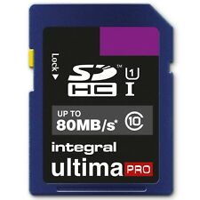INTEGRAL 16GB ULTIMA PRO SDHC 80MO/S CLASSE 10 CARTE MÉMOIRE RAPIDE SPEED SD