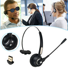 Wireless Bluetooth Cell Phone Headset Microphone Noise Canceling for Business