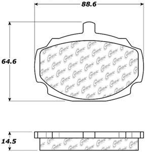 Frt Semi Met Brake Pads  Centric Parts  102.00270