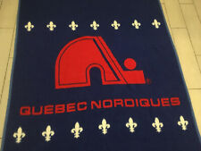 AWESOME Vintage 90's QUEBEC NORDIQUES Throw BLANKET Hockey NHL 54 x 73 Snuggly