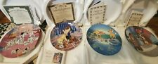 Bradford Exchange & Knowles Disney collector plates. Lot of 4.