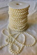 Pearl Bead  String Trim  3mm & 6mm. 4 colours in Cake/Bridal & Crafts.
