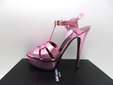 Yves Saint Laurent Tribute 105 Vegas Pink Platform Sandals 315487 39 9